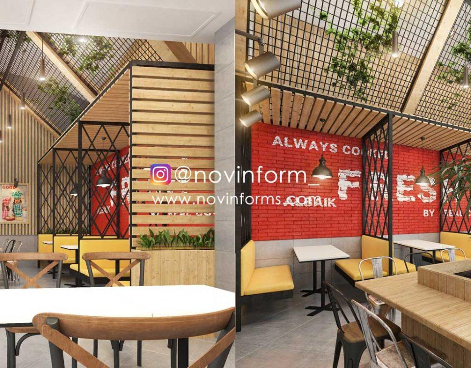 طراحی داخلی رستوران البیک