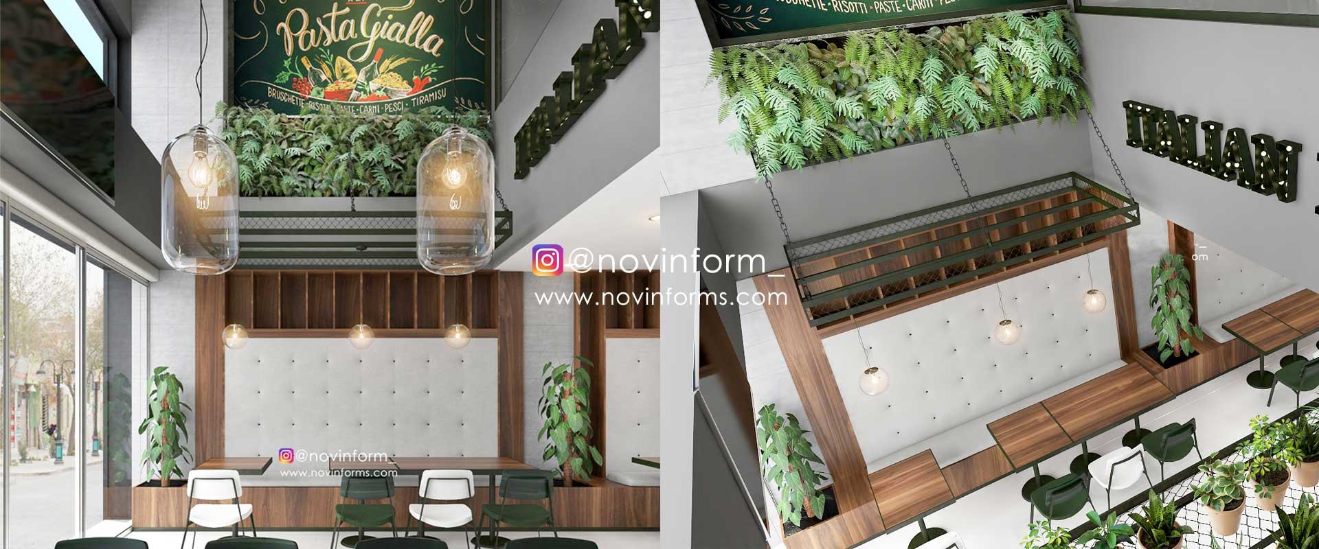 طراحی رستوران ایتالیایی مانگرو