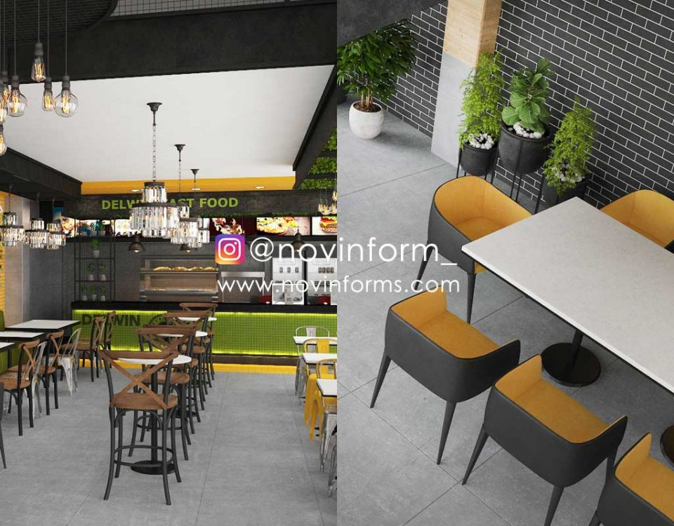 دکوراسیون داخلی رستوران مدرن